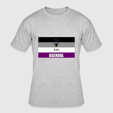 Asexual Flag The A Is for Asexual - Men's 50/50 T-Shirt
