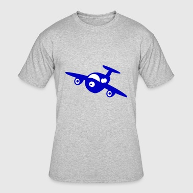 airplane aeroplane flugzeug heissluftballon air ba - Men's 50/50 T-Shirt