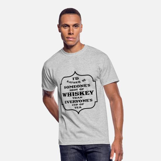 Rather T-Shirts - Shot of Whiskey - Men's 50/50 T-Shirt heather gray