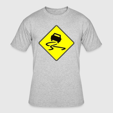 Slippery When Wet Danger Sign - Men's 50/50 T-Shirt
