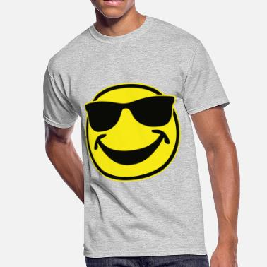 348c347f7d6d COOL yellow SMILEY BRO with sunglasses - Men's 50/50 T