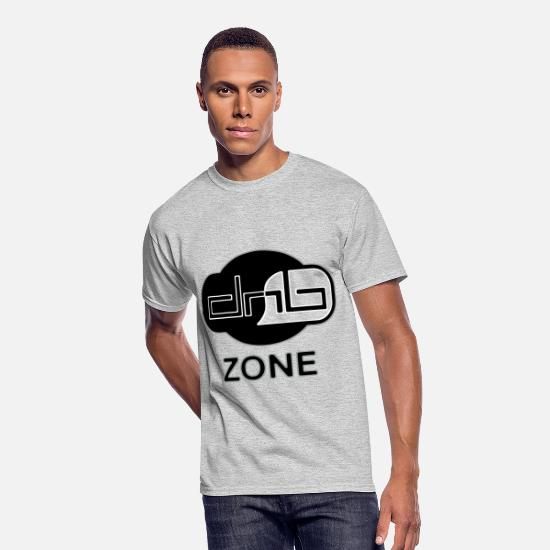 Bass T-Shirts - DRUM AND BASS ZONE - Men's 50/50 T-Shirt heather gray
