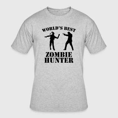 World's Best Zombie Hunter - Men's 50/50 T-Shirt