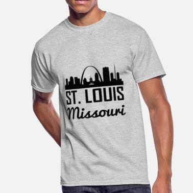St Louis Arch St. Louis Missouri Skyline - Men's 50/50 T-Shirt