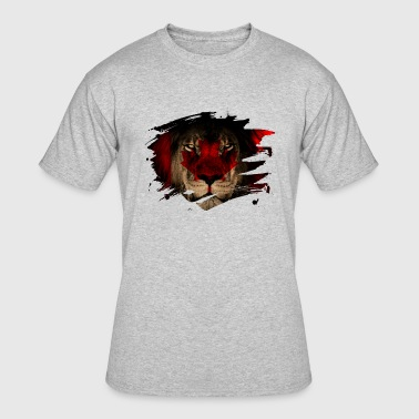 Cat Canada Canada Flag & African Lion Picture - Men's 50/50 T-Shirt