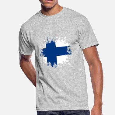 Paint Splashes Finland Flag Paint Splashes - Men's 50/50 T-Shirt