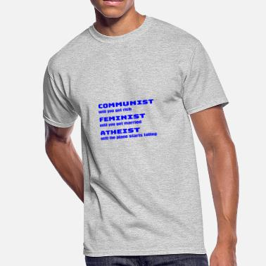 Anti-conservative Funny Sarcastic Anti-Liberal For Conservatives - Men's 50/50 T-Shirt