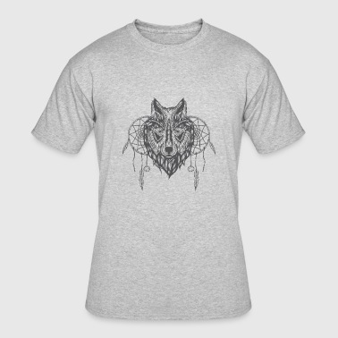 Wolf Dream Catcher Wolf With Dream Catchers - Men's 50/50 T-Shirt