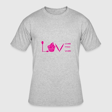 Love Baking - Cupcakes Gift - Men's 50/50 T-Shirt