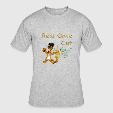 Sax Baby Real Gone Cat. Cool cat with Saxophone. - Men's 50/50 T-Shirt