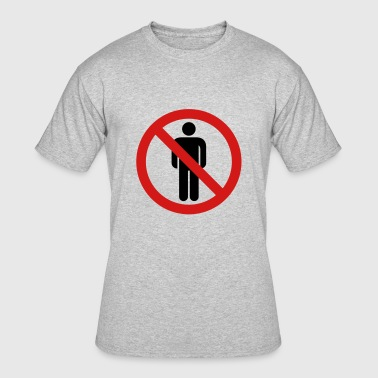 Ban Sign banned sign hate people people animals love alone - Men's 50/50 T-Shirt