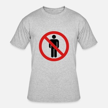 Banned Sign banned sign hate people people animals love alone - Men's 50/50 T-Shirt
