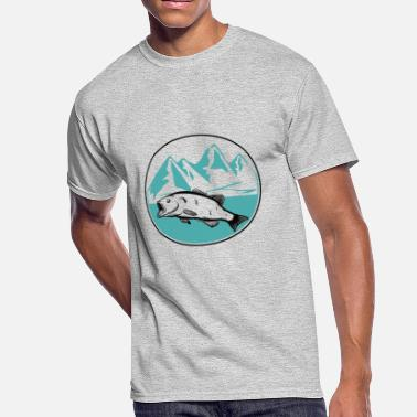 Mountain lake Fishing - Men's 50/50 T-Shirt