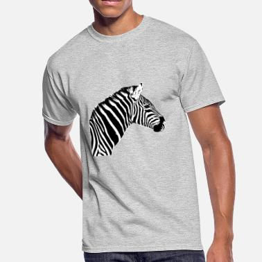 Zebra Zebra Head - Men's 50/50 T-Shirt