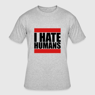 humans beam text sticker fuck you fuck off round h - Men's 50/50 T-Shirt