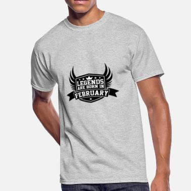 Legends Born In February Legends Are Born in February | February Birthdays - Men's 50/50 T-Shirt