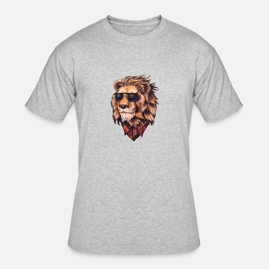 Stylish Hipster Stylish Hipster Lion with Sunglases Shirts & Gifts - Men's 50/50 T-Shirt