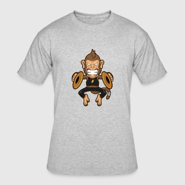Monkey Cymbals Clash, funny Monkey - Men's 50/50 T-Shirt