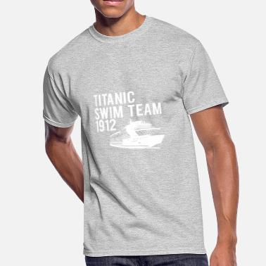 Titanic TITANIC 1912 SWIM TEAM, FUNNY RETRO NAUTICAL CRUIS - Men's 50/50 T-Shirt