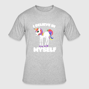 I BELIEVE IN MYSELF UNICORN - Men's 50/50 T-Shirt