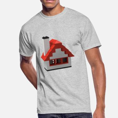 Classic House Classic Toy Brick House - Men's 50/50 T-Shirt