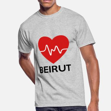 Lebanon Heart Beirut - Men's 50/50 T-Shirt