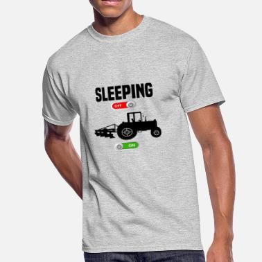 Tractor Plow Sleeping OFF Farmer tractor plow ON gift - Men's 50/50 T-Shirt