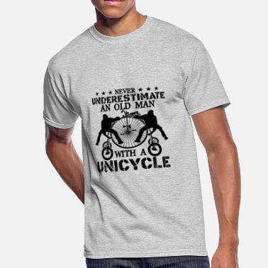 Unicycle Old Man With A Unicycle Shirt - Men's 50/50 T-Shirt