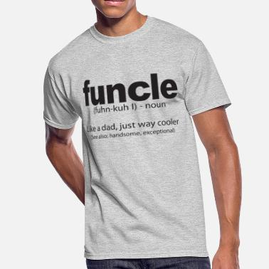 838f2979 Funcle Definition Funny Quote - Men's 50/50 T-Shirt