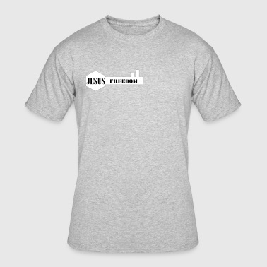 Jesus Freedom - Men's 50/50 T-Shirt