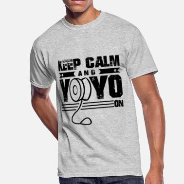 Yoyo Yoyo Shirt - Keep Calm And Yoyo On T Shirt - Men's 50/50 T-Shirt