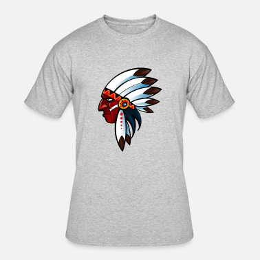 Hitachi indian_with_big_nose_dark_red - Men's 50/50 T-Shirt