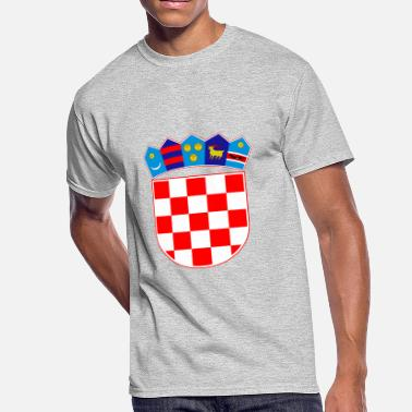 Usta Coat of arms of Croatia Hrvatska - Men's 50/50 T-Shirt