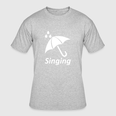 Sing Geek singing wite - Men's 50/50 T-Shirt