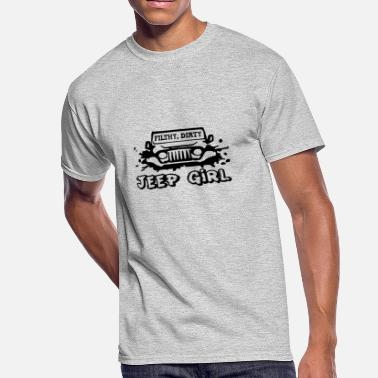 Filthy Geek Filthy Dirty Jeep Girl 02 - Men's 50/50 T-Shirt
