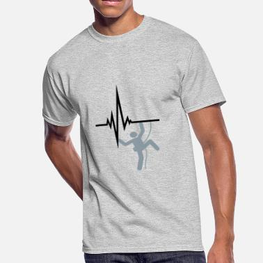 Heartbeat Symbol pulse heartbeat frequency logo figure symbol climb - Men's 50/50 T-Shirt