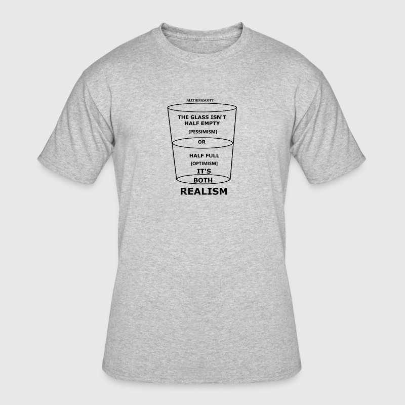 HALF EMPTY HALF FULL - Men's 50/50 T-Shirt