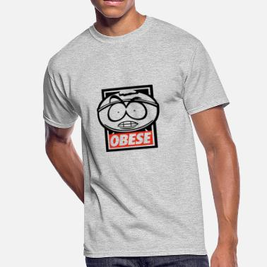 Obesity OBESE - Men's 50/50 T-Shirt