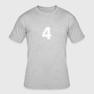 4 distressed,4, Four, Number Four, Number 4 - Men's 50/50 T-Shirt
