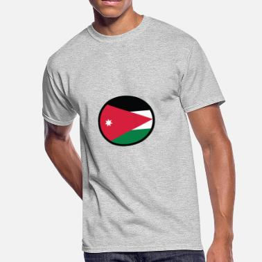 Amman National Flag Of Jordan - Men's 50/50 T-Shirt