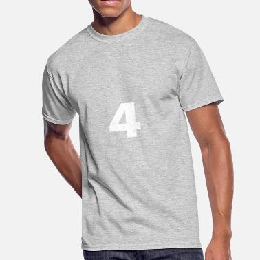 Number 4 Four 4 distressed,4, Four, Number Four, Number 4 - Men's 50/50 T-Shirt