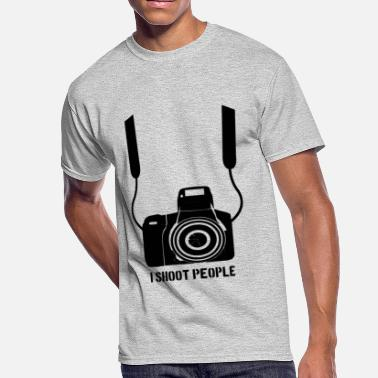 Shoot Slogan People Shoot - Men's 50/50 T-Shirt