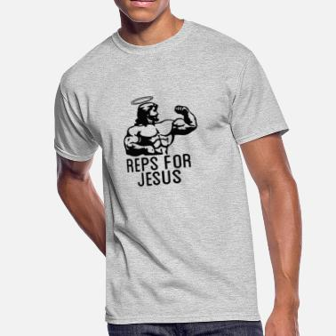 Reps Reps Jesus - Men's 50/50 T-Shirt