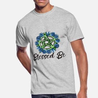 Wiccan Blessed Be Wiccan Pentagram Art - Men's 50/50 T-Shirt