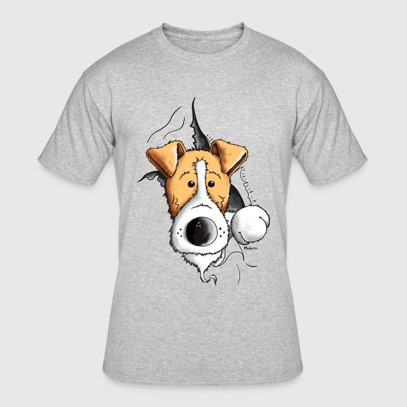 Finn The Fox Terrier - Men's 50/50 T-Shirt