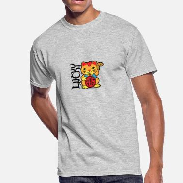 Lucky Cat Lucky Cat - Men's 50/50 T-Shirt