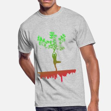 Free Your Mind YOGA FREE YOUR MIND TREE - Men's 50/50 T-Shirt