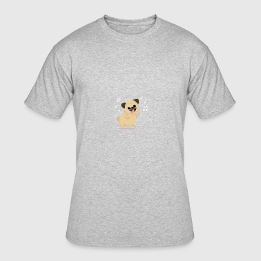 Happy pug dancing with hand drawn style - Men's 50/50 T-Shirt