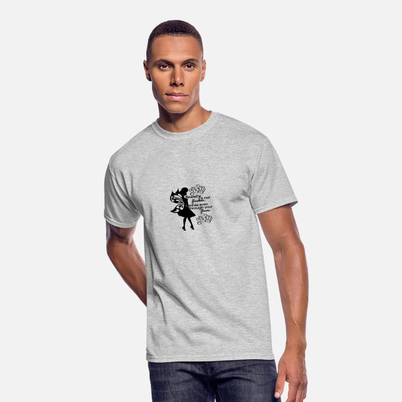 Black Classy Lady Silhouette With Wings Quotes Men S 50 50 T Shirt