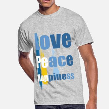 Love Peace Happy peace love happiness - Men's 50/50 T-Shirt